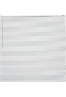 Persiana Horizontal Em Pvc Off 140X130Cm Branca