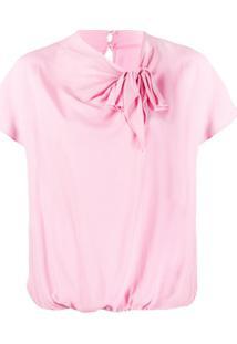 Pinko Blusa Com Detalhe De Nó - Rosa