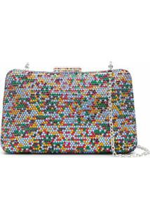 Serpui Clutch Mirela Com Cristais - Colorido