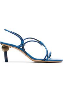 Jacquemus Sandália Com Tiras Cruzadas 'Olbia' - Azul