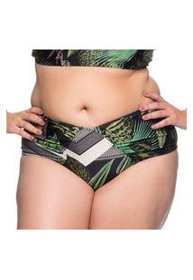 Calcinha Recortes Larga Botonical Plus Size La Playa 2019
