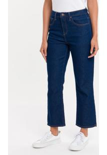 Calça Jeans Five Pockets High R Straight - Marinho - 34
