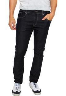 Calça Jeans Lacoste Slim Stretch Azul-Marinho