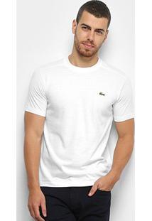 Camiseta Lacoste Gola Careca Masculina - Masculino-Branco