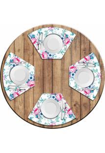 Jogo Americano Love Decor Para Mesa Redonda Wevans Floral Premium Kit Com 4 Pã§S - Multicolorido - Dafiti