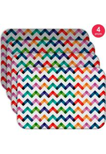 Jogo Americano Love Decor Wevans Colorful Abstract Kit Com 4 Pçs