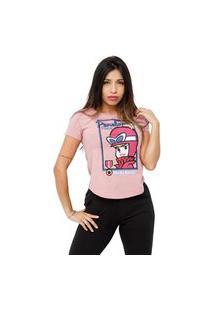 Camiseta Sideway Penelope Charmosa - Rosa