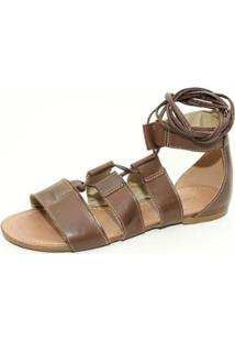 Sandalia Top Franca Shoes Gladiadora Feminina - Feminino-Cafe
