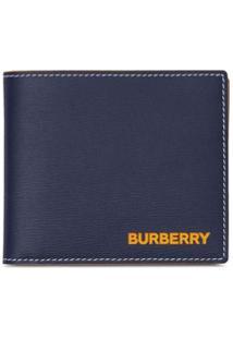 Burberry Carteira Com Estampa De Logo - Azul