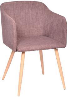 Poltrona Charlote- Marrom & Madeira Clara- 80X54,5X4Or Design