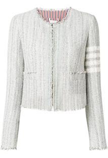 Thom Browne Fitted Tweed Jacket - Cinza