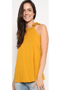 Blusa Com Tag- Amarelo Escuro- Colccicolcci