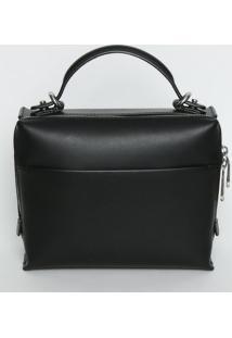 9dc855d8f R$ 444,99. Privalia Bolsa Feminina Couro De Grife Transversal Zíper Calvin  Klein Publish Preta ...