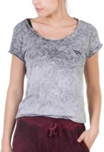 Camiseta Slim Brohood Marmorizada Feminina - Feminino