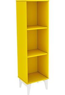 Estante Livreiro Twister Amarelo Com Branco