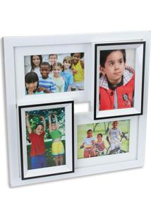 Porta Retrato Hauskraft Para 4 Fotos Branco