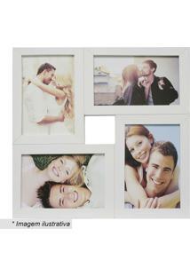 Painel Para 4 Fotos- Branco- 29,5X29,5Cmkapos