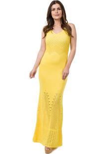 Vestido amarelo pink feminino gostei e agora dafiti vestido amarelo pink trico longo thecheapjerseys Choice Image
