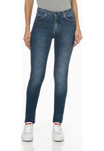 Calça Jeans Five Pockets Premium Stretch - Azul Marinho - 34