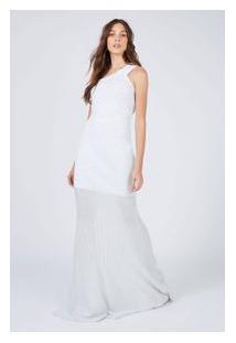 Vestido Tricot Longo Ombro Só Prata