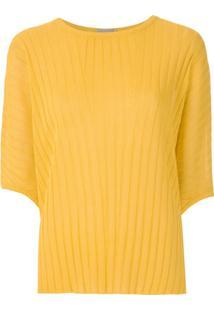Alcaçuz Blusa Naila De Tricô - Amarelo