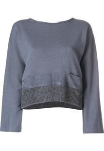 Fabiana Filippi Contrast Hem Knitted Top - Cinza