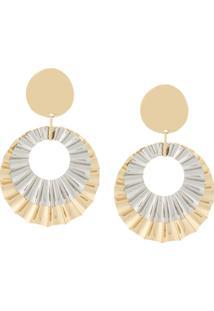 Isabel Marant Round Earrings - Amarelo