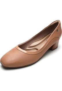 Scarpin Piccadilly Recortes Nude