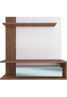 Painel Suspenso Para Tv De 65 Polegadas Com 2 Portas E Espelho Est203-Estilare - Branco