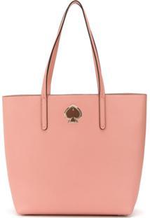 Kate Spade Bolsa Tote Com Placa De Logo - Rosa
