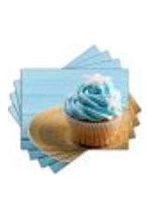 Jogo Americano - Cupcakes Com 4 Peças - 850Jo