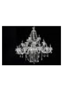 Lustre De Cristal Maria Thereza Transparente 28 Lâmpadas Bivolt