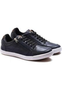 Sapatênis Ped Shoes Zíper Lateral 14010 Masculino - Masculino-Azul Escuro