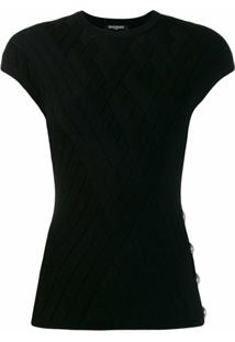 Balmain Blusa De Tricô - Preto