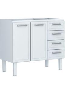 Gabinete De Cozinha Para Pia De 120Cm Apólo Flat 117,2X52,4Cm Branco Cozimax