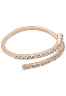 Kismet By Milka Anel De Ouro Rosa 14K Com Diamantes - Dourado