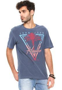 Camiseta John John Palm Azul