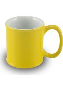 Caneca Mini Cilindrica 70Ml 1648-Mondoceram Gourmet - Amarelo