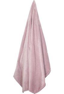 Cobertor Velour De Microfibra Neo King Size- Rosa Claro