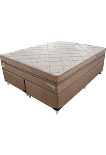 Cama Box Com Colchão King Toronto Mola Ensacada (70X193X203) Dourado E Bege