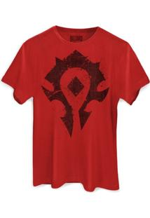 Camiseta Bandup - Geek World Of Warcraft Horda