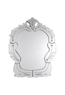 Espelho Veneziano- Pashmina- Espelho Veneziano- Branco