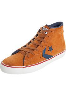 Tênis Converse Cons Pro Leather Vulc Hi Marrom