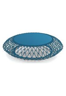 Mesa De Centro Zoot De Corda Pet Azul Royal