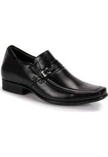 Sapato Social Aumenta Altura Masculino Jota Pe Grow Air King - Preto