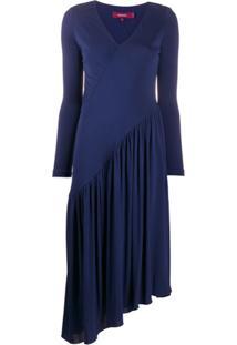 Sies Marjan Vestido De Tricô Assimétrico - Azul