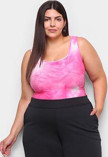 Body Naif Caju Plus Size Feminina - Feminino-Rosa