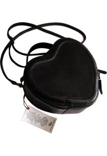 Bolsa Line Store Leather Coração Preta