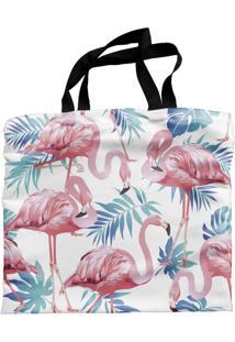 Bolsa Ecobag Sacola Estampada Flamingo Casual Floral Praia - A0003