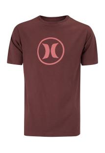 Camiseta Hurley Silk Circle Icon - Masculina - Vinho